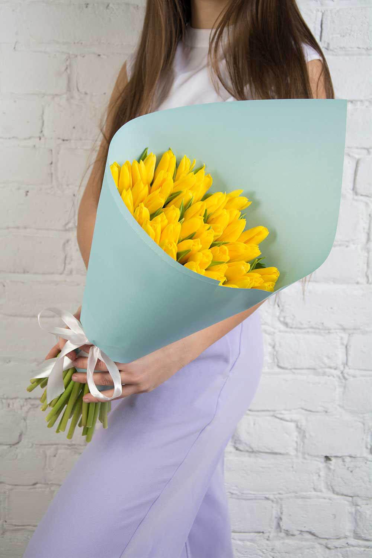 39 желтых тюльпанов